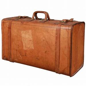 Wonderful Vintage Leather Suitcase
