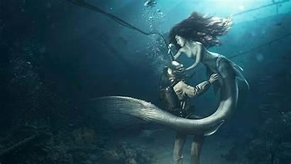 Mermaid Diver Wallpapers 1366