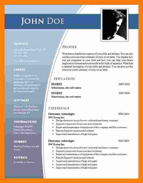 Professional Cv Format In Ms Word by 9 Cv Format Ms Word 2007 Theorynpractice