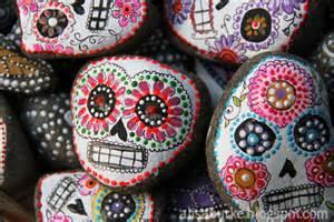 Sugar Skulls Painted Stone Rocks