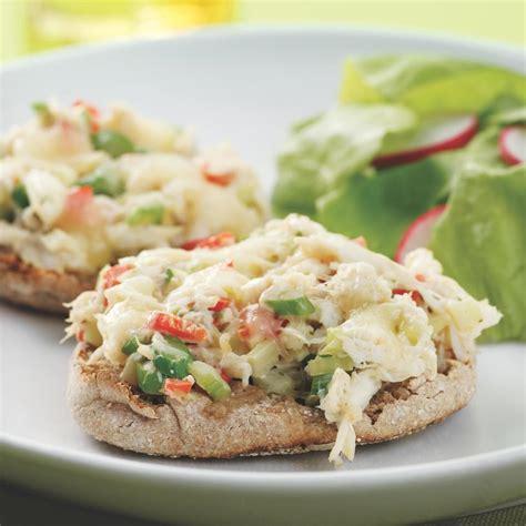 crab salad melts recipe eatingwell