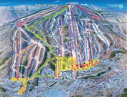 Snow Mount Map Maps Ski Trail Resort
