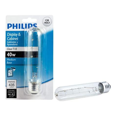 40 watt incandescent t10 clear tubular light bulb 415869