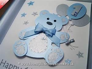 Birthday Bear - Luxury Handmade 1st Birthday Card