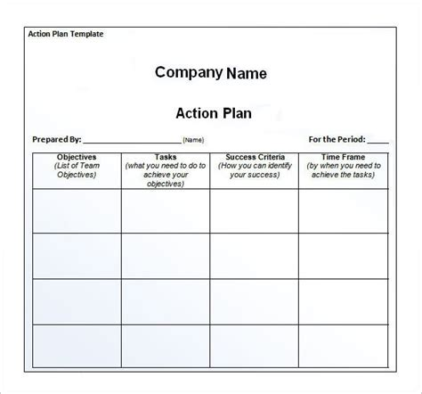 action plan template    documents
