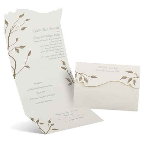 autumn seal  send invitation anns bridal bargains
