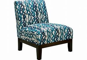 Basque Turquoise Accent Chair - Accent Chairs (Blue)