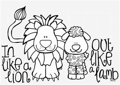 Lamb Coloring Lion March Pages Simple Getdrawings
