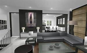 Tableau Salon Design : salon tendance avec un tableau floral ~ Teatrodelosmanantiales.com Idées de Décoration