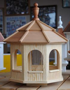 cedar bird feeder gazebo  sided octagon  bird