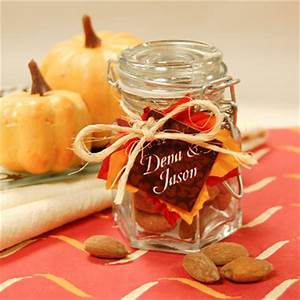 fall baby shower favor jar my practical baby shower guide With fall themed wedding favors