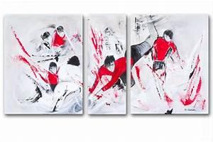 Tableau Triptyque Moderne : triptyque abstrait figuratif les battants gris rouge rectangle tableaux modernes rouges ~ Teatrodelosmanantiales.com Idées de Décoration