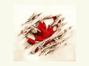 Canadian Flag Tattoos Designs
