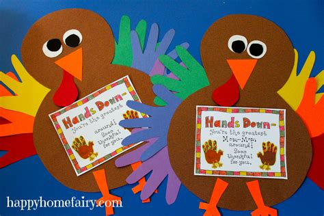 thankful handprint turkey craft free printable happy 228 | thankful handprint turkey 51