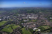 aeroengland | aerial photograph of Bury Greater Manchester UK