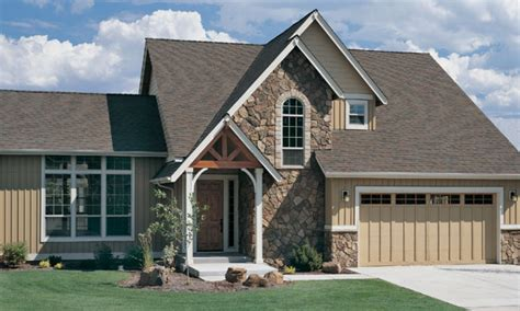 craftsman style house plans  homes single story