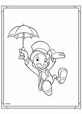 Coloring Cricket Jiminy Pages Popular sketch template