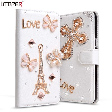 flip cover samsung galaxy ace3 s7270 luxury rhinestone pu leather cover for