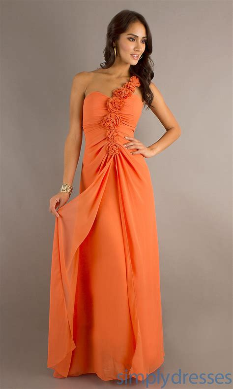 bebe orange dress pics one shoulder dress