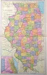World Atlas Map State Illinois
