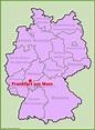 Frankfurt location on the Germany map