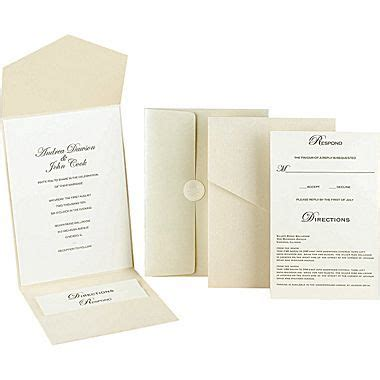 Great Papers­­® Pearl Shimmer Pocket Invitation Kit