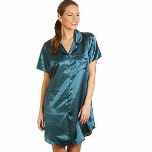 Womens Night Bauhaus : new ladies camille teal spotted womens satin nightshirt nightdress size 10 22 uk ~ Eleganceandgraceweddings.com Haus und Dekorationen