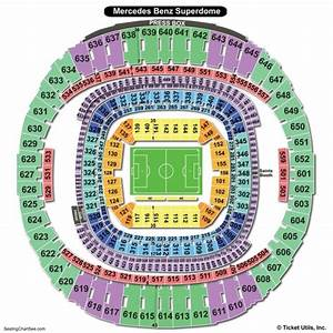 Mercedes Benz Superdome Seating Chart Seating Charts