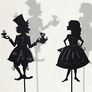 Alice and the Madhatter/ Laser cut Shadow Puppets by