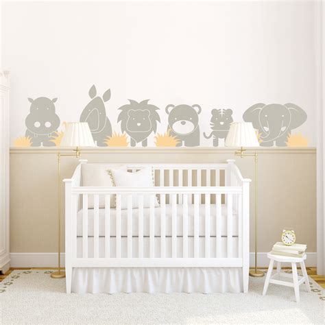 déco chambre bébé stickers zoo babies wall decal