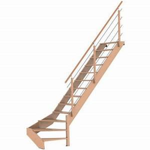 Escalier 1 4 Tournant Gauche : escalier 1 4 tournant droit novah castorama ~ Dode.kayakingforconservation.com Idées de Décoration
