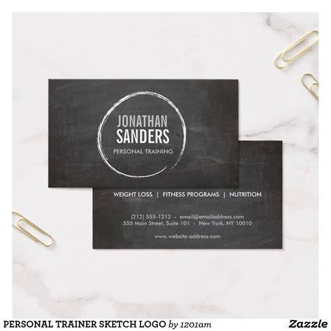 personal trainer sketch logo business card  images