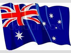 Political waving flag of Australia Vector Colourbox