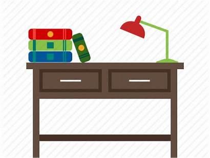 Desk Clipart Table Study Cartoon Transparent Pinclipart