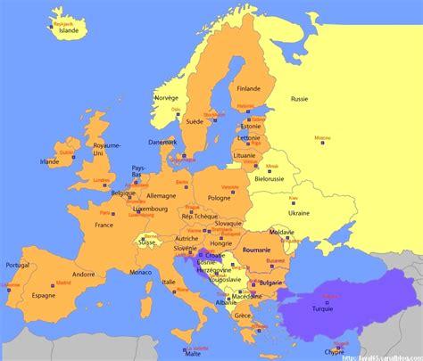 Carte Routière De L Europe 2017 by Carte De