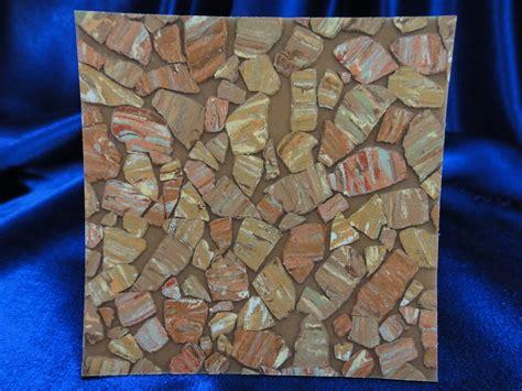 retro vinyl asbestos sheet flooring sample closer view