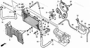 Honda Motorcycle 1993 Oem Parts Diagram For Radiator