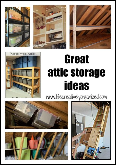 great attic storage ideas life creatively organized