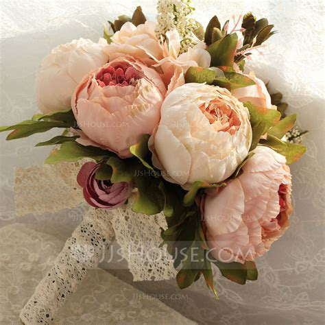 Simple And Elegant Round Satin Bridal Bouquetsbridesmaid