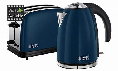 Kettle Toaster Hobbs Russell Coloured Royal Groupon