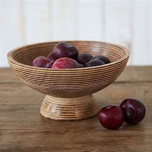 Carved, Mango, Wood, Fruit, Bowl, By, Paper, High