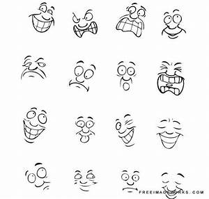 Vector illustration of different facial expressions ...