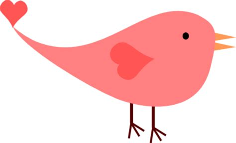Cute Pink Bird Clip Art