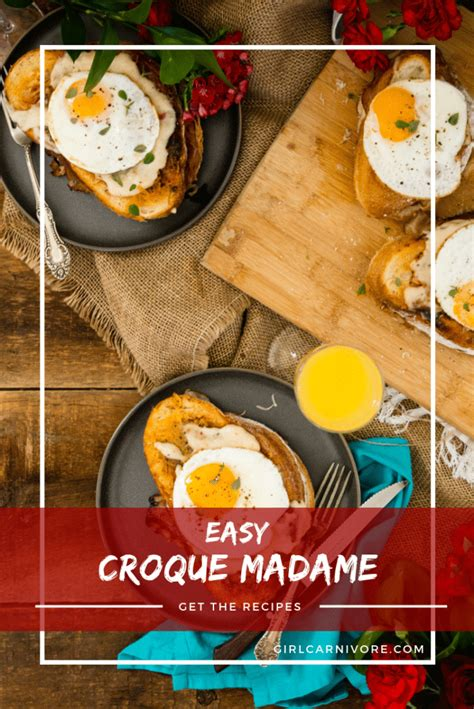 Anytime you read a macaron recipe, you will see that almond flour or almond meal will be required. Easy Croque Madame Recipe | Ham & Cheese w/ Egg ...