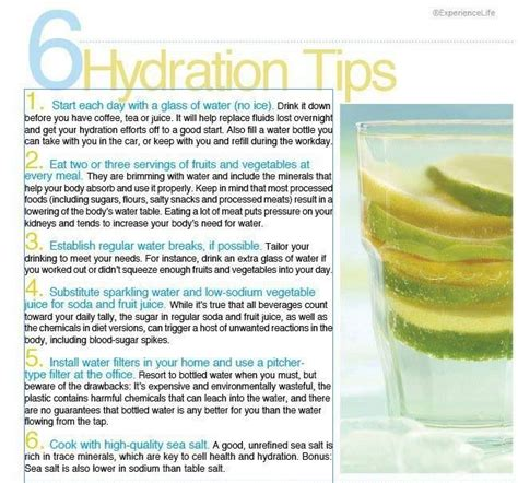 6 Hydration Tips!   CBeyond.....   Pinterest