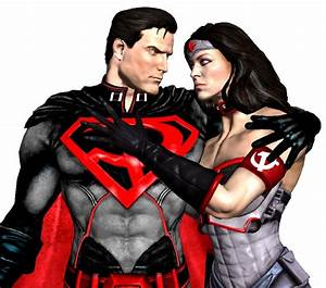 Injustice God Superman and Wonder Woman red son by ...