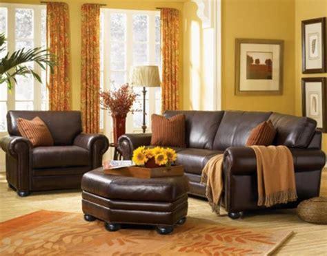monroe leather sofa set  rome burnt orange living