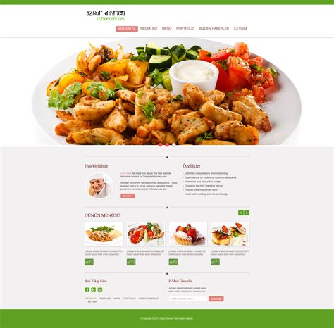 cuisine site food web template by ozgurdk on deviantart