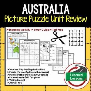 World Geography Picture Puzzle Bundle  Test Prep  Unit