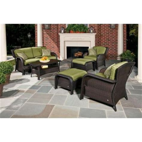 hanover strathmere 6 wicker patio seating set